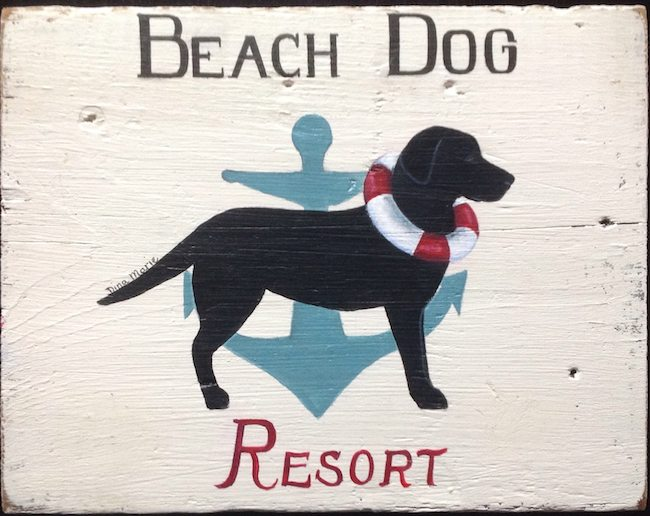 Beach Dog Resort labrador sign