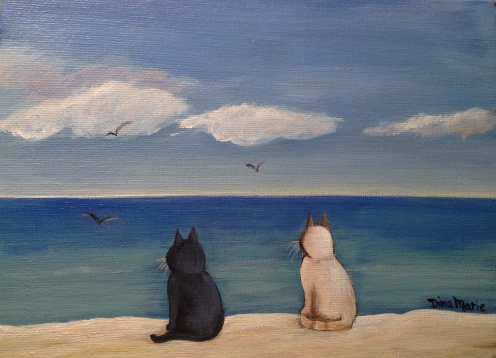 Cat Couple Beach