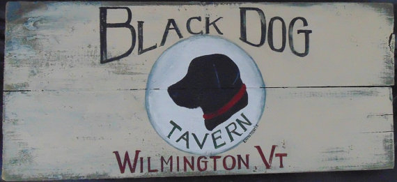 Black Dog Tavern sign