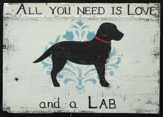 Labrador Signs Pets Painted By Dina